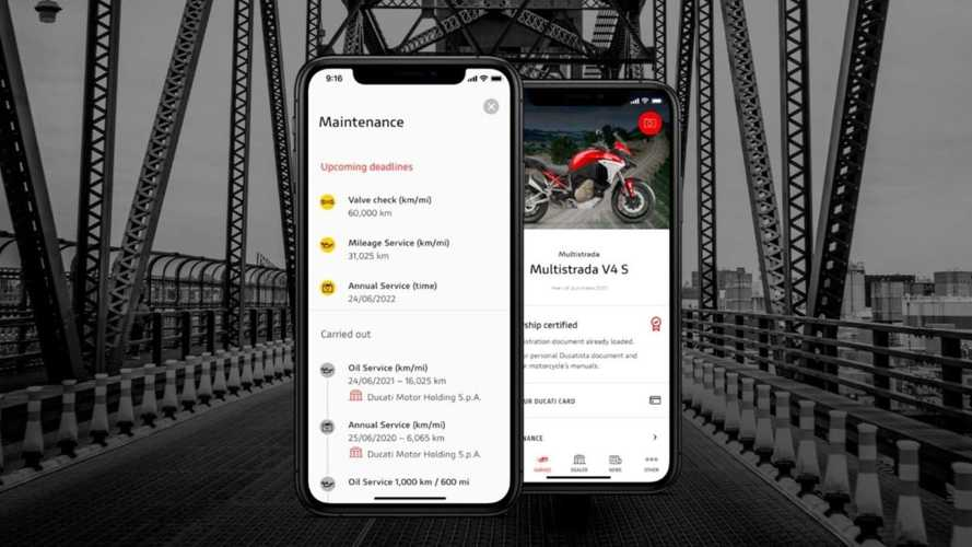 The MyDucati App Now Has A New Maintenance Feature