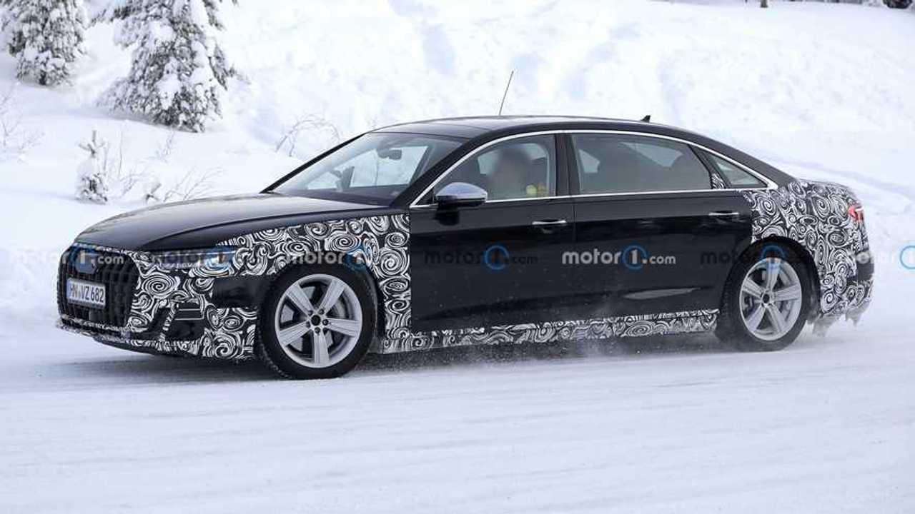 2022 Audi A8 L Horch spy photo