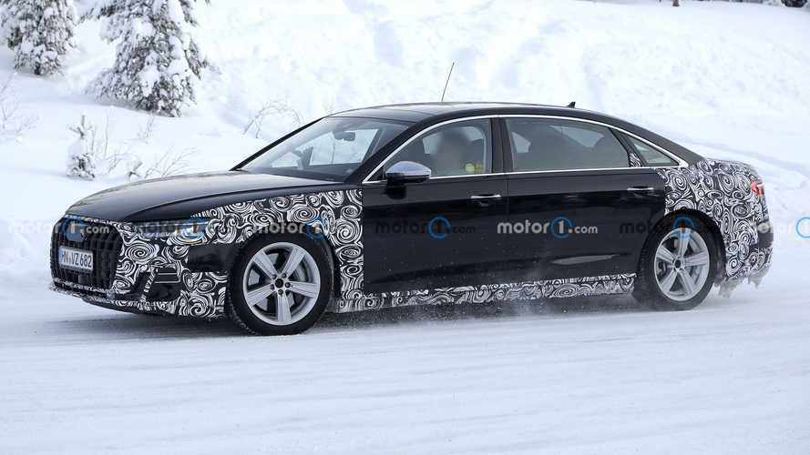 2022 Audi A8 Long Wheelbase Spied Possibly Hiding Horch Badge