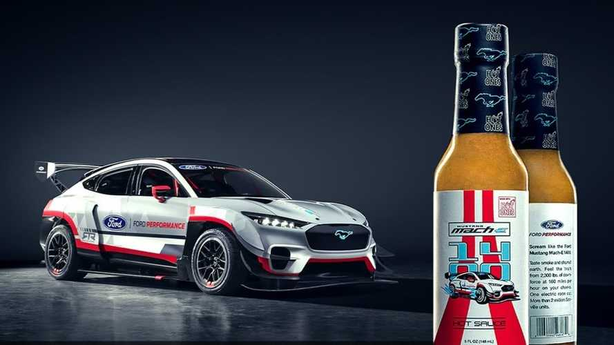 Sean Evans And Vaughn Gittin Jr. Produce A Mach-E 1400 Hot Sauce