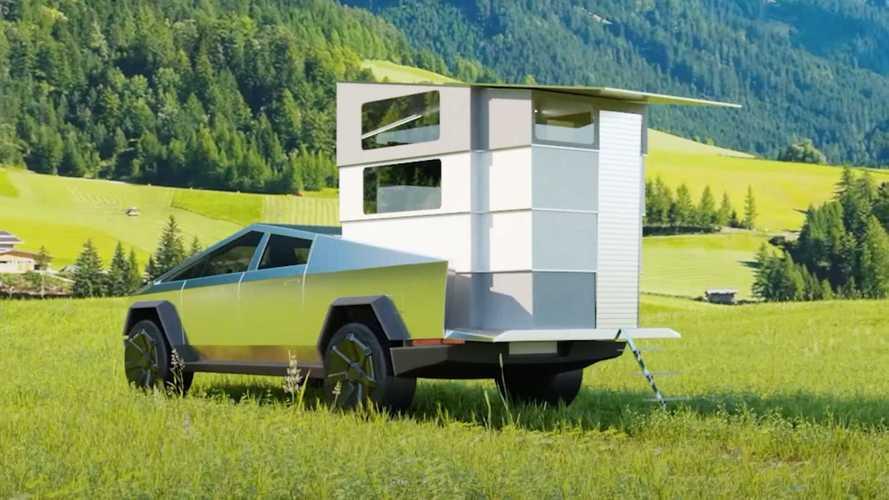 Tesla Cybertruck için hazırlanmış kamp modülü CyberLandr'ı görün!