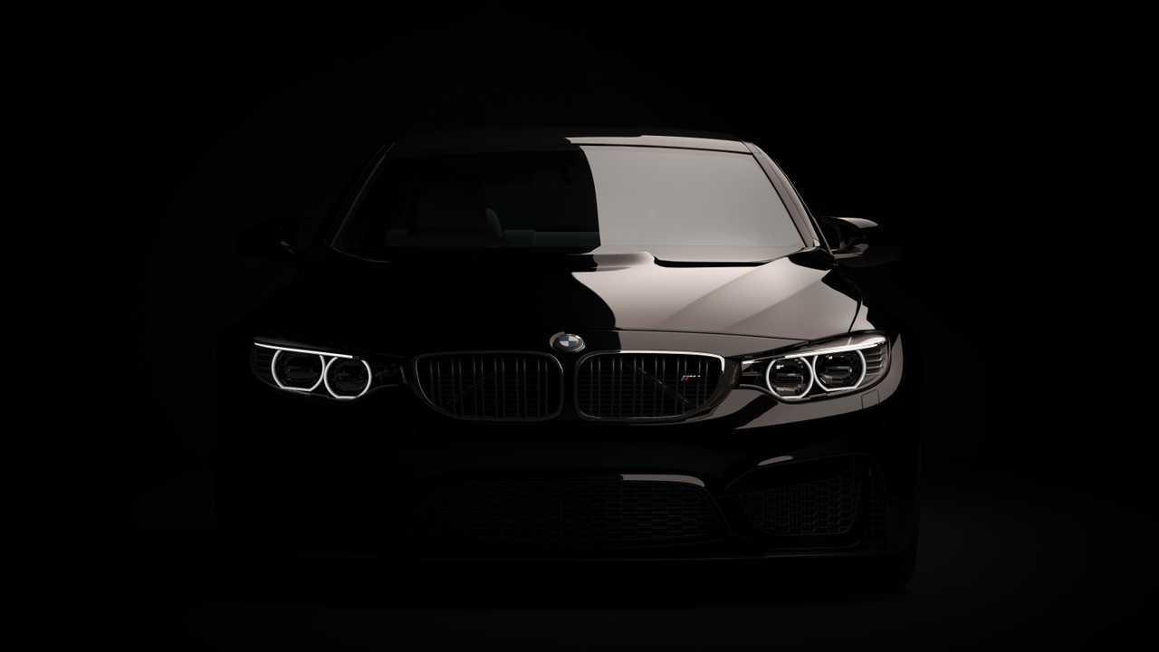 Stock image of black BMW