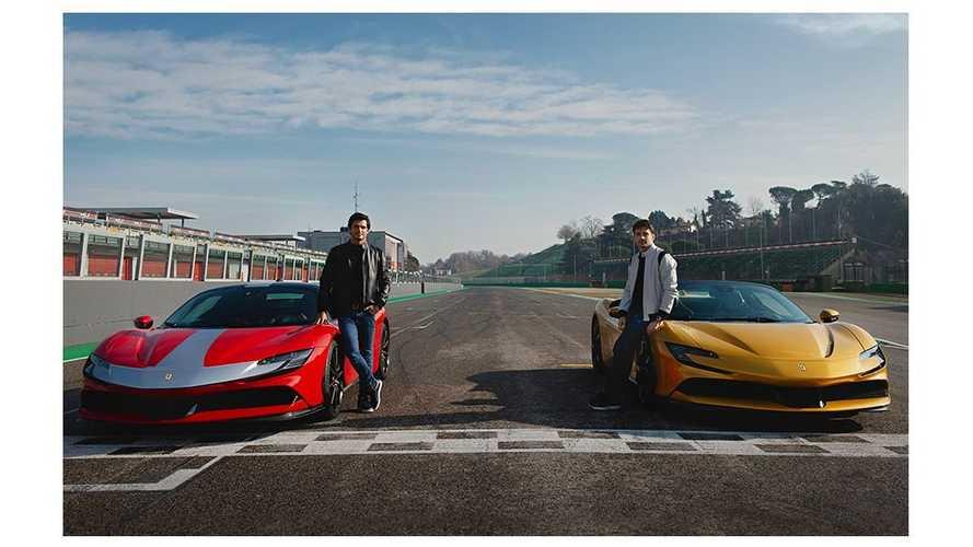 Watch Ferrari F1 drivers duel with SF90 Stradale and SF90 Spider