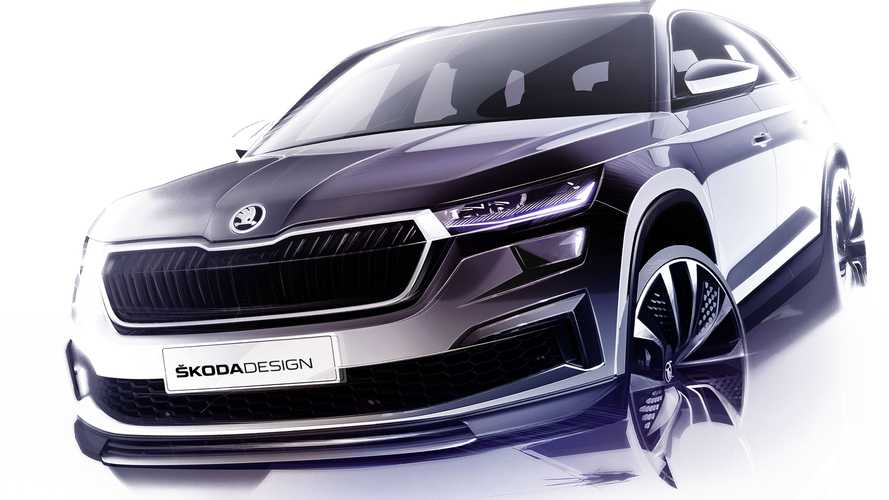 2021 Skoda Kodiaq Facelift Teased Ahead Of April 13 Debut