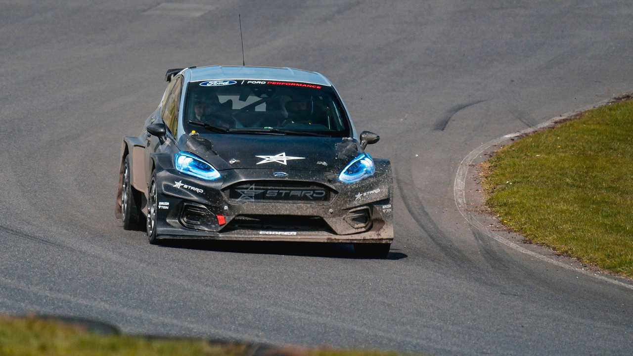 Matt Neal testing for World Rallycross series April 2021