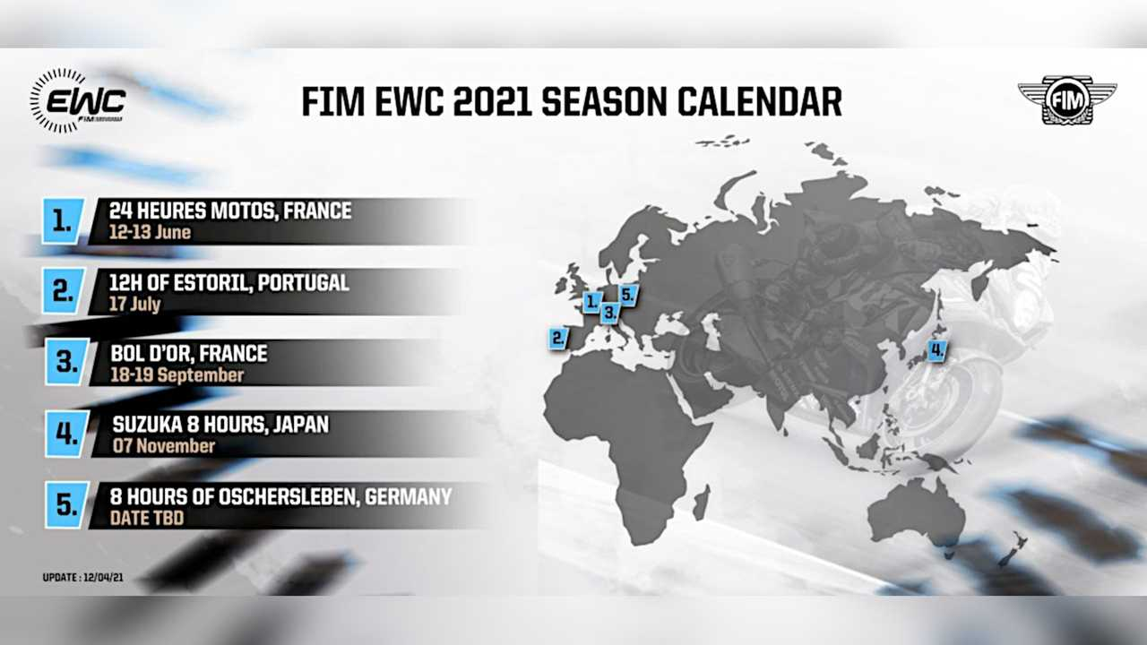 2021 FIM EWC Revised Calendar - April 12, 2021