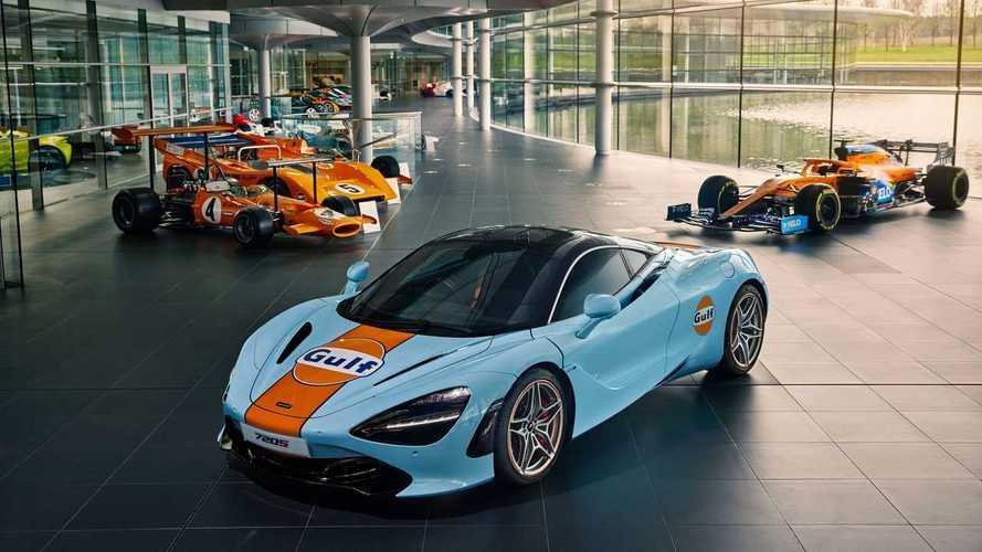 McLaren 720S, ecco la speciale livrea Gulf ispirata all'F1