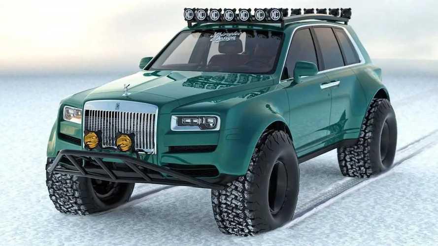 Rolls-Royce Cullinan Arctic Expedition Renderings