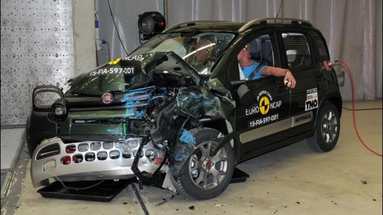 [Copertina] - Crash Test Euro NCAP, 3 stelle per la Fiat Panda Cross