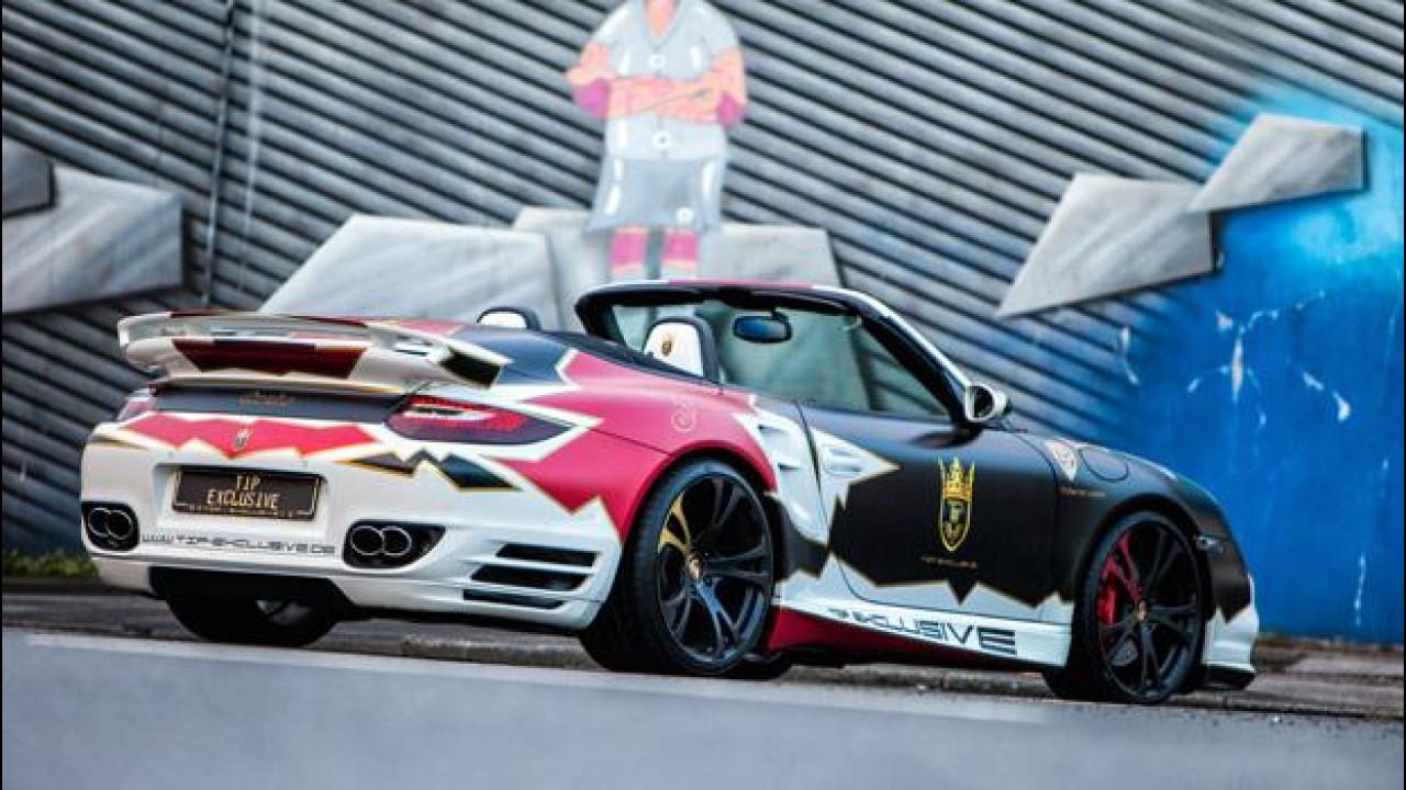 [Copertina] - Porsche 911 Turbo Cabriolet, wrapping alla tedesca