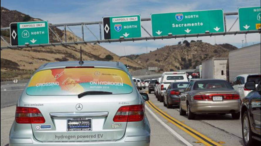 Mercedes Classe B F-Cell, attraverso la California con l'idrogeno