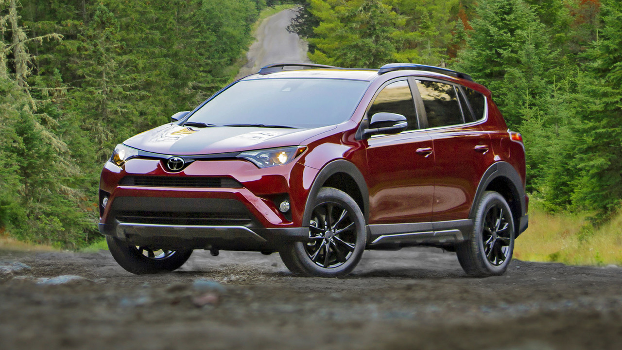 The 2018 Toyota RAV4 Rally in the forest