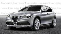 Standart Alfa Romeo Stelvio tasarım yorumu