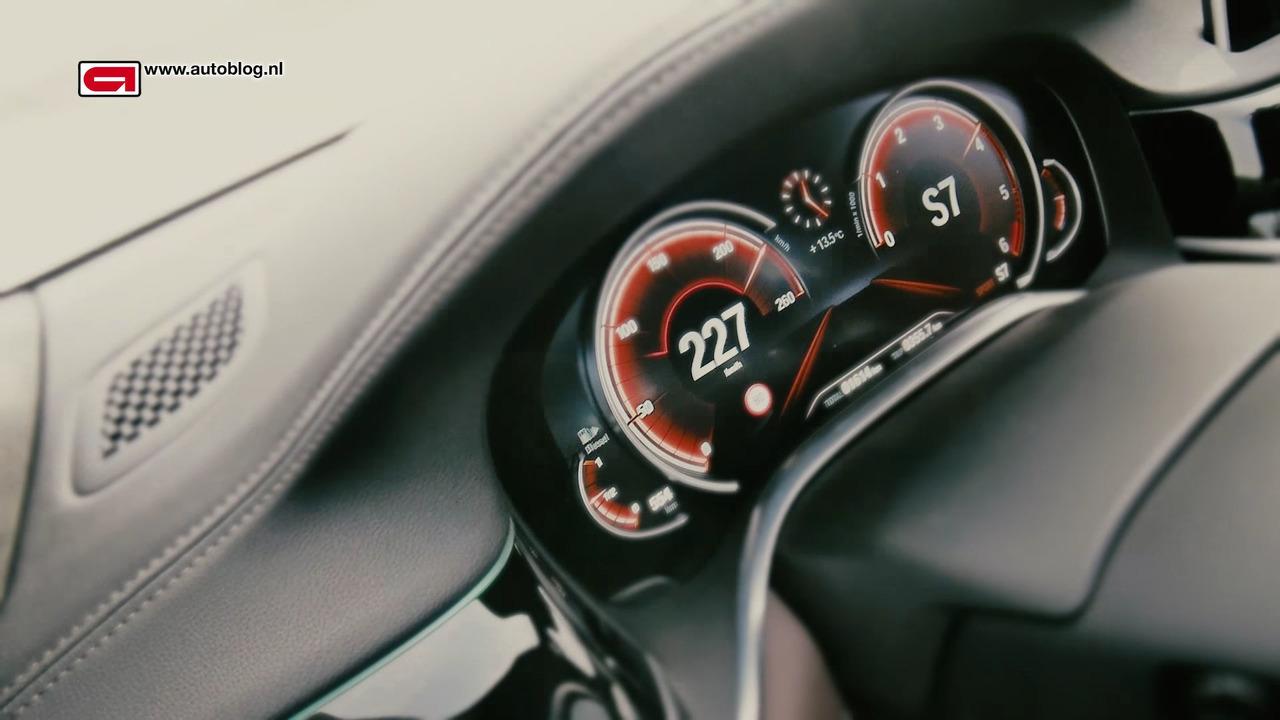2016 BMW 750Ld xDrive speed test