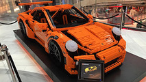 life size lego porsche 911 gt3 rs looks race ready in stockholm mall