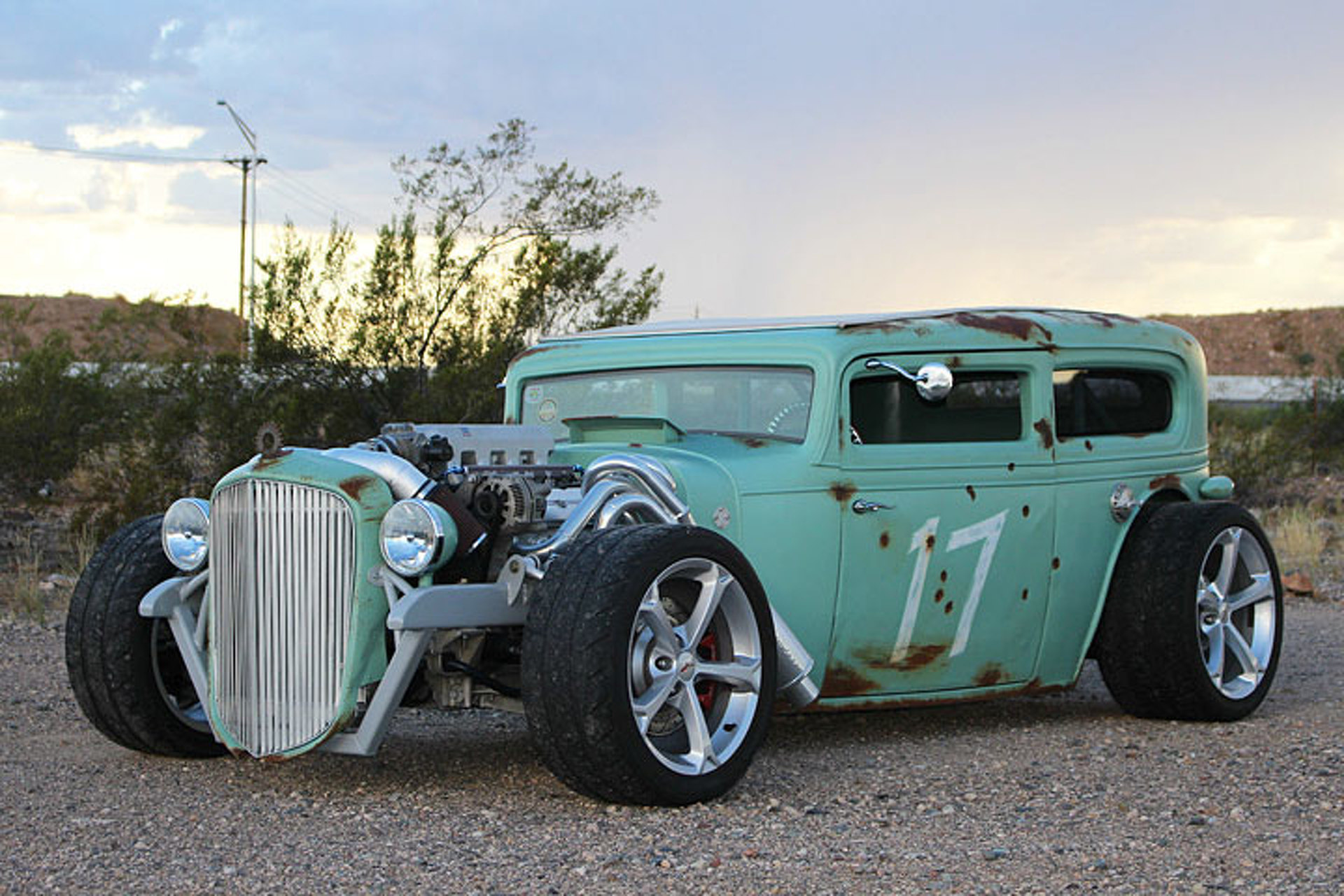 there s a corvette heart in this 32 chevrolet rat rod