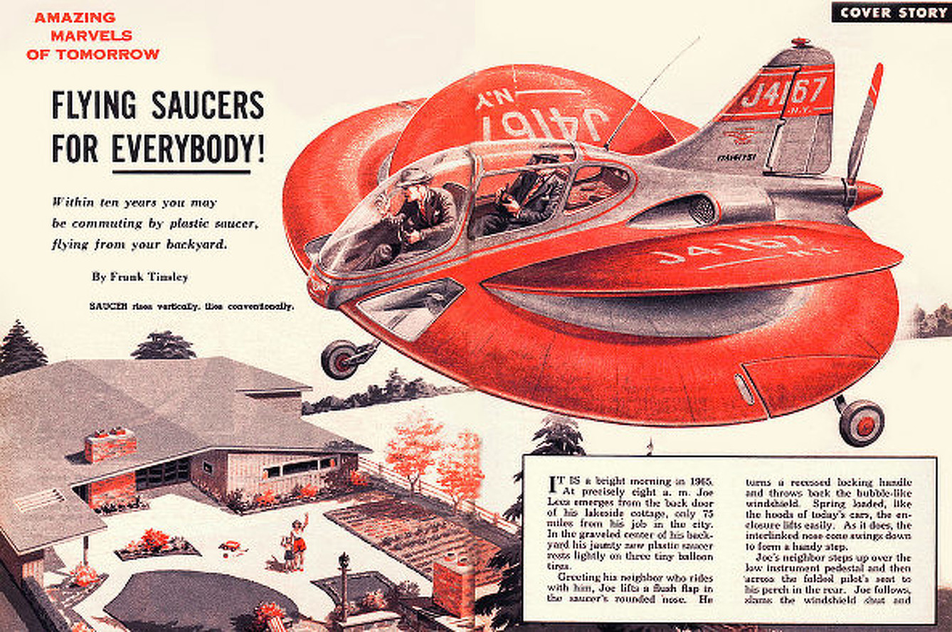 The Past Dreams of a Flying Car for Your Daily Commute [w/ video]