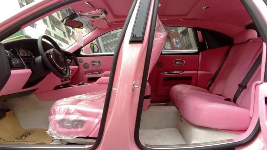 It doesn't get much flashier than this all-pink Rolls-Royce Ghost from China