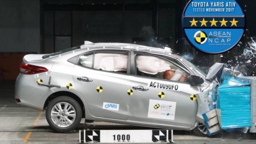 Futuro nacional, Toyota Yaris recebe 5 estrelas em crash test