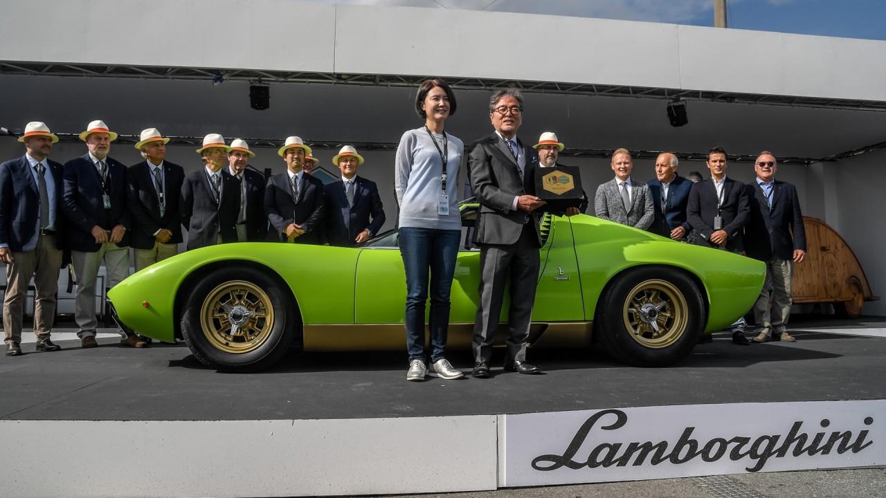 """[Copertina] - Concorso di Eleganza """"Lamborghini & Design"""", vince una Miura SV"""