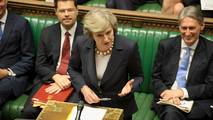 UK prime minister Theresa May speaks in the House of Commons