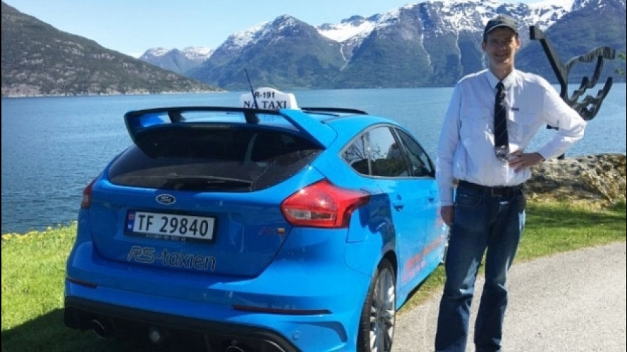 Ford Focus RS, l'unica in Norvegia è un taxi