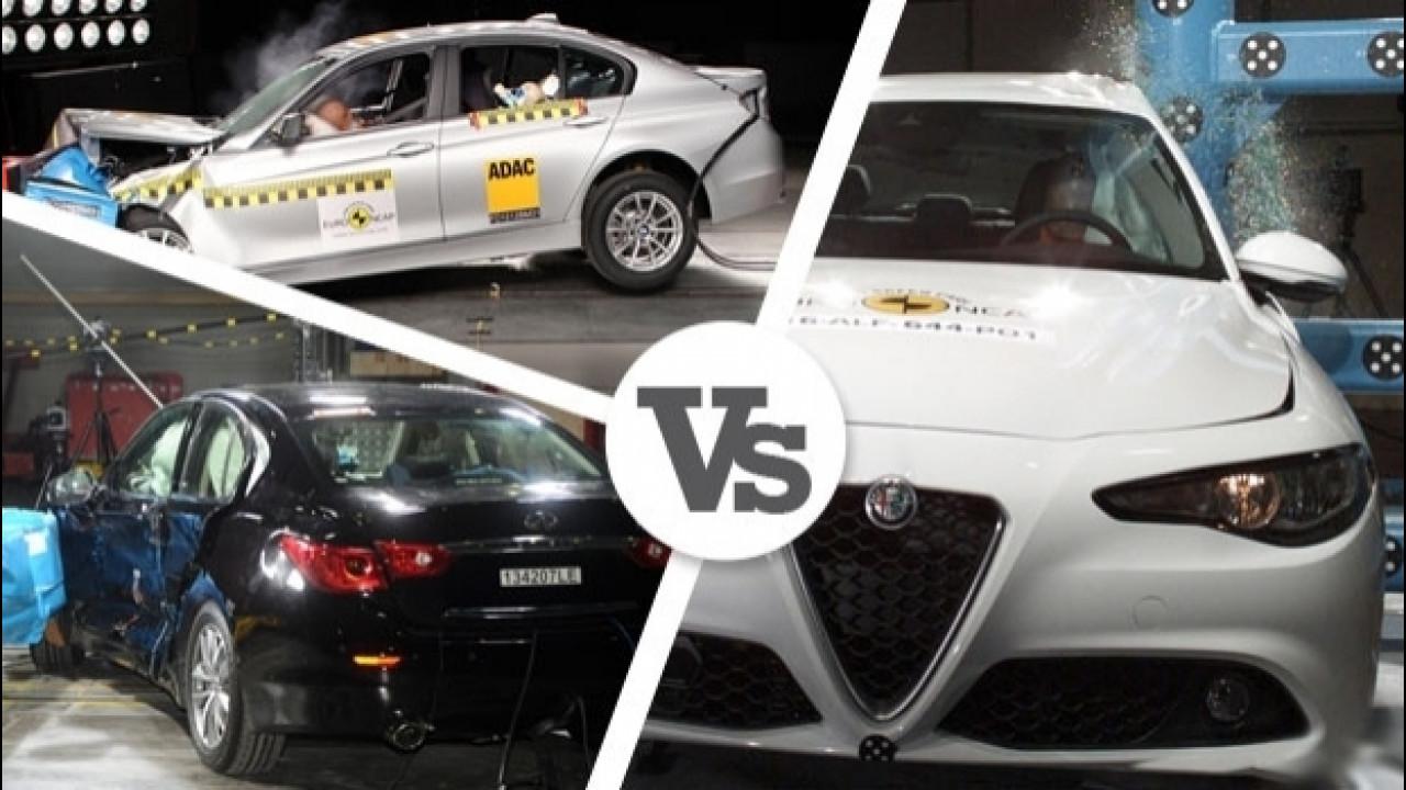 [Copertina] - Alfa Romeo Giulia, anche la sicurezza è motivo di confronto