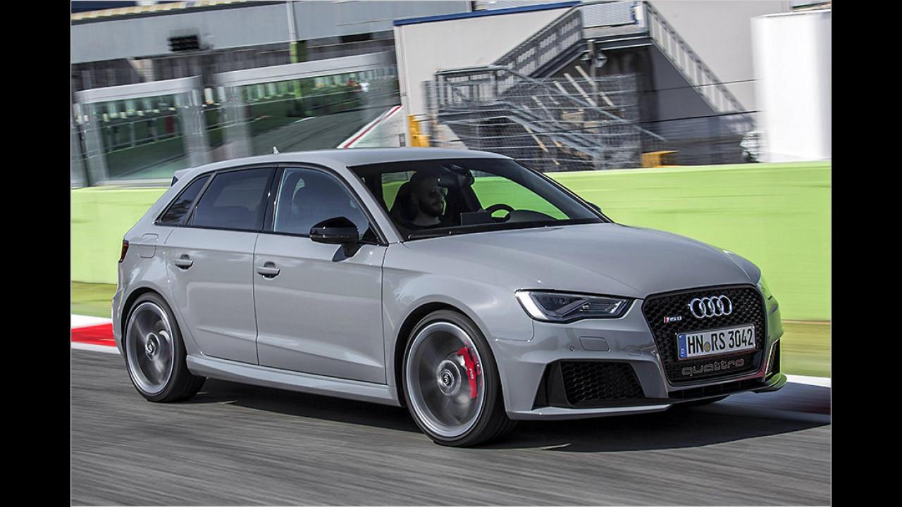 Audi RS 3 Sportback: 4,3 Sekunden