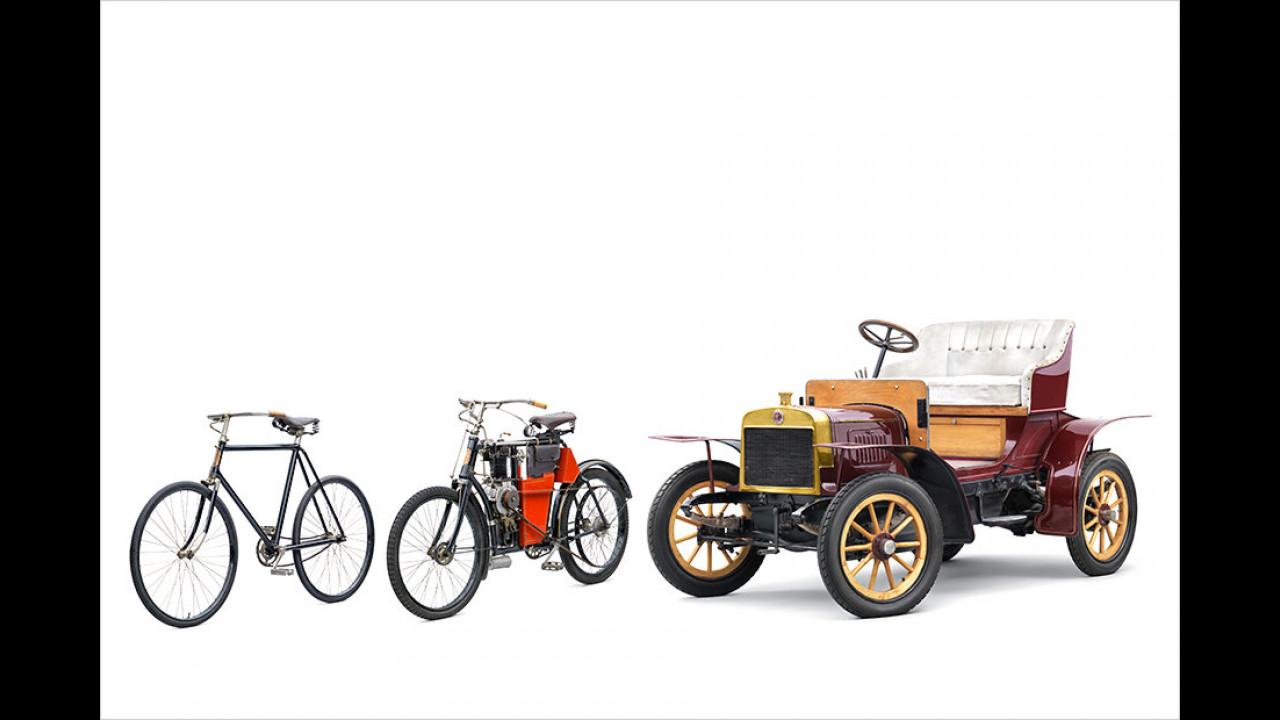 1899: Produktion von Motorrädern beginnt