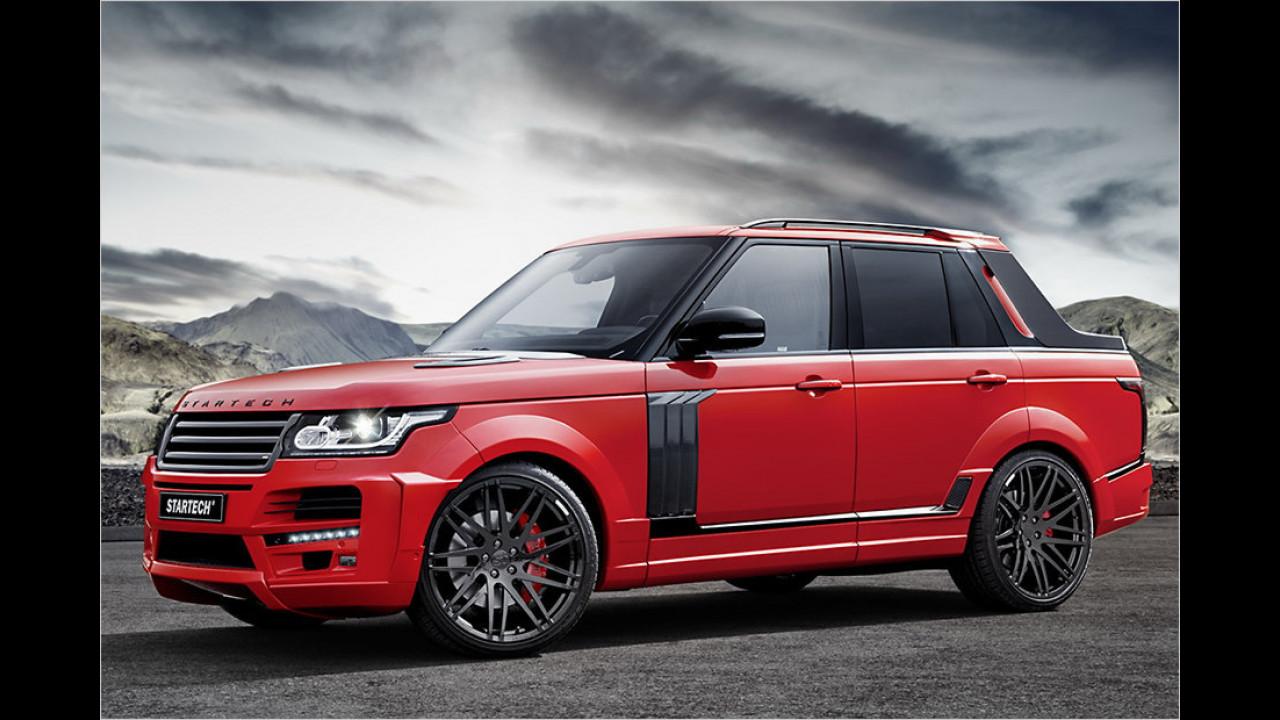 Stilbruch: Range Rover als Pick-up