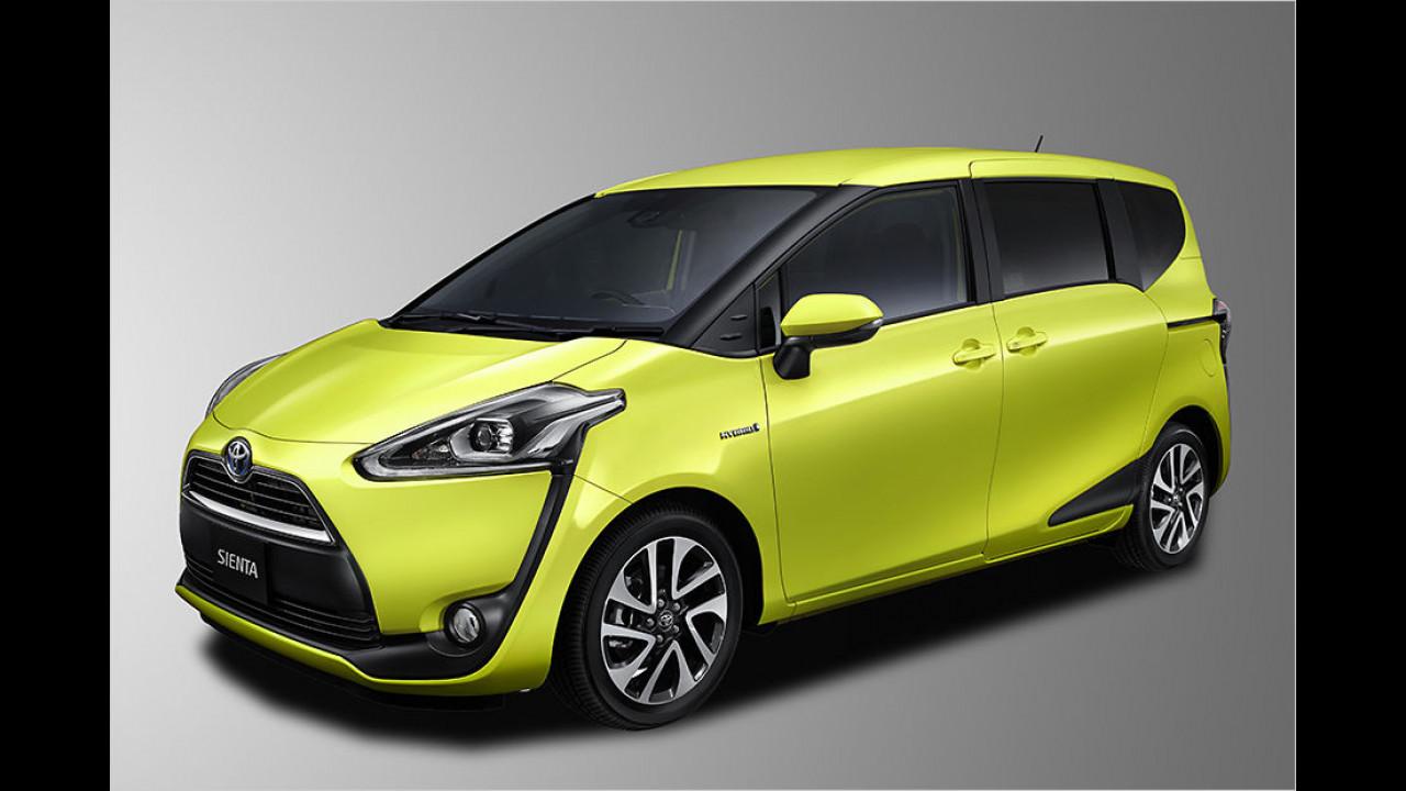 Platz 7: Toyota Sienta (70 Punkte)
