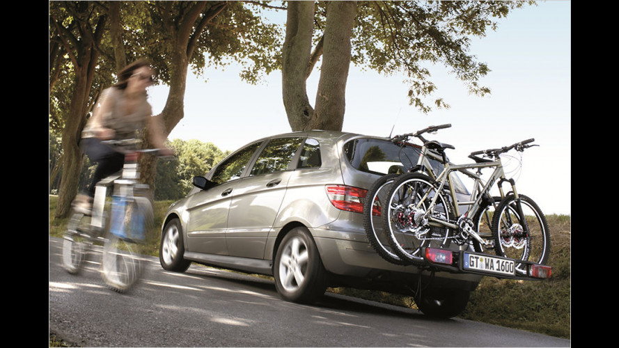 Fahrradträger für die Anhängekupplung: Gerade für hohe SUVs oder Vans ideal