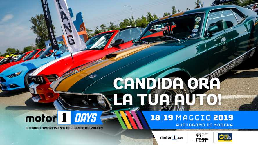 Candida la tua auto per il Motor1Days 2019!