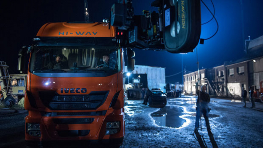 Stralis Hi-Way sul set di Dawn of Justice