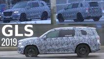 Yeni 2019 Mercedes GLS'in Trafikteki Kamuflajlı Fotoğrafları