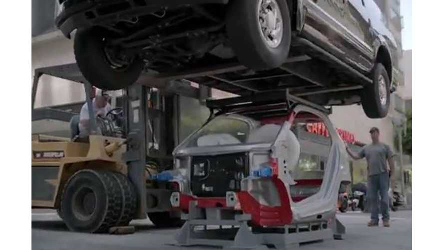 Video: Smart Fortwo Electric Drive Tridion Safety Cell Can Support a 7,000 Pound SUV Too