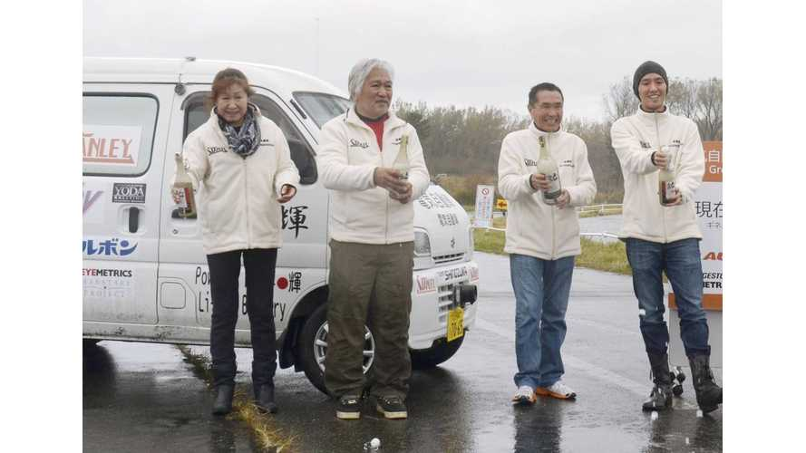 Japanese Team Sets New EV Record of 808 Miles On Single Charge