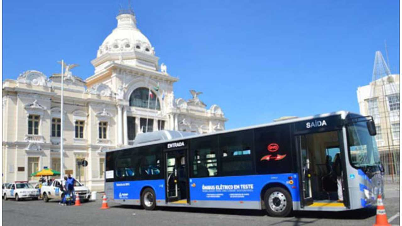 BYD Demonstrating Electric Bus in Salvador, Brazil