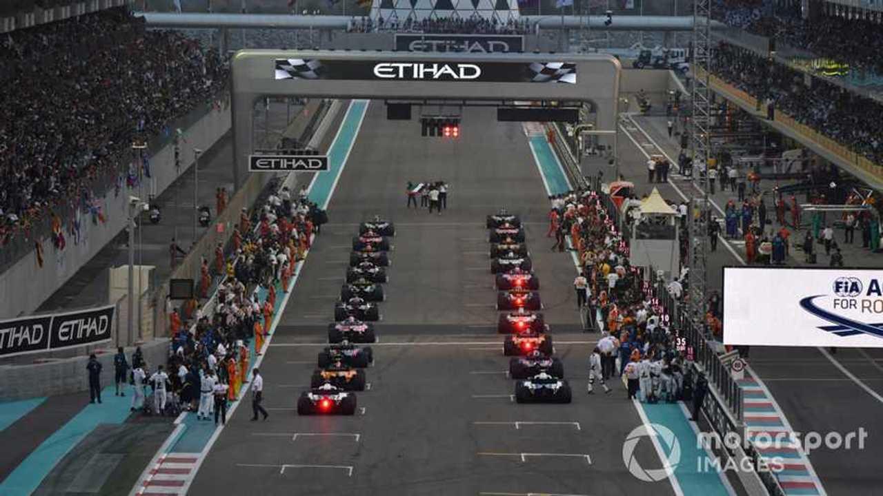 Abu Dhabi GP 2018 starting grid