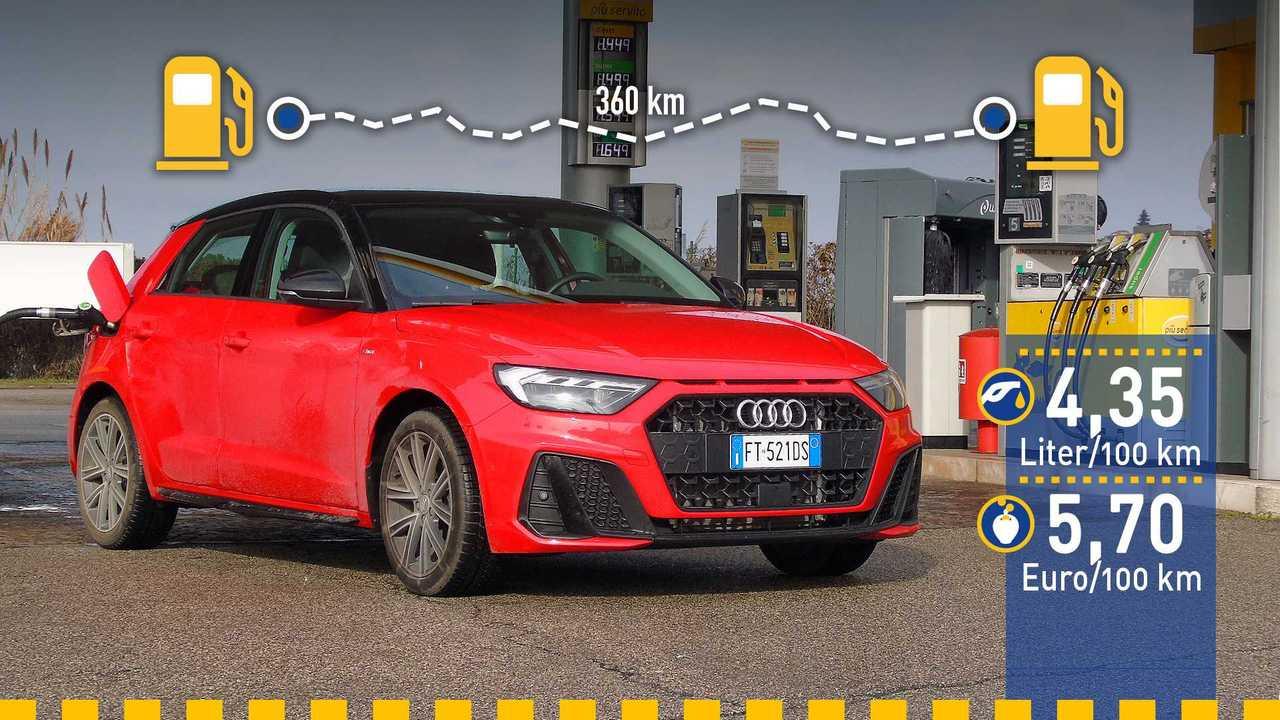 Audi A1 Verbrauchstest