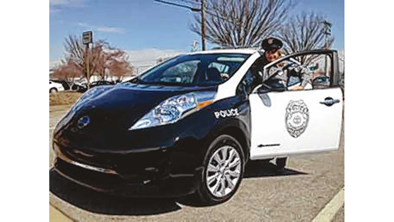 Kingsport Police - Our Nissan LEAF Costs Us Just Pennies Per Day