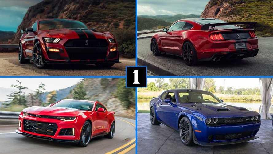 Mustang Shelby GT500 2019 vs Challenger Hellcat vs Camaro ZL1