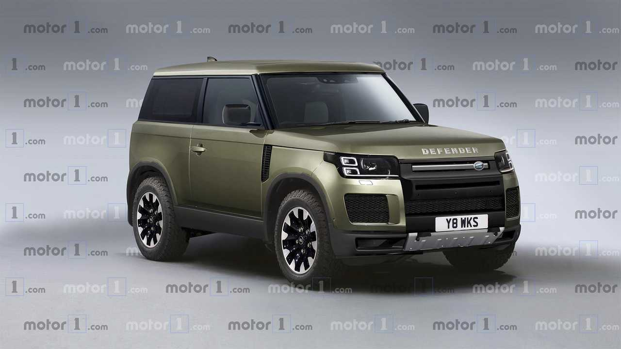 Render Land Rover Defender 2020