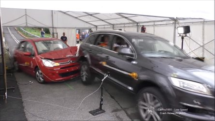 Citroen C3 Deliberately Crashed Into Audi Q7 For Research