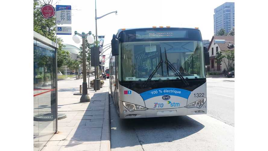 Canada is the Latest Stop on the BYD eBus Test Tour