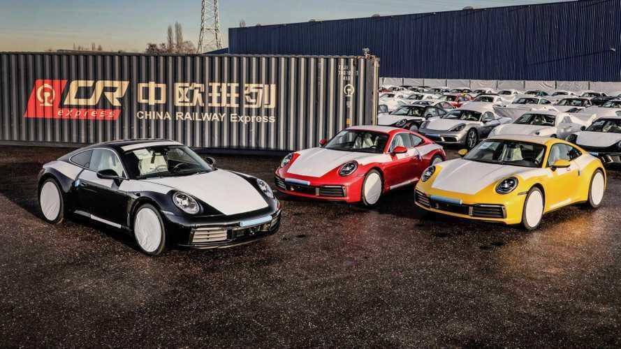 Vonattal szállíttatja Kínába modelljei egy részét a Porsche