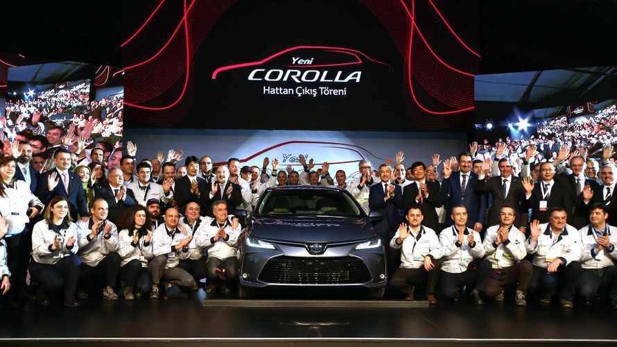 Yeni nesil Toyota Corolla Sakarya'da banttan indi