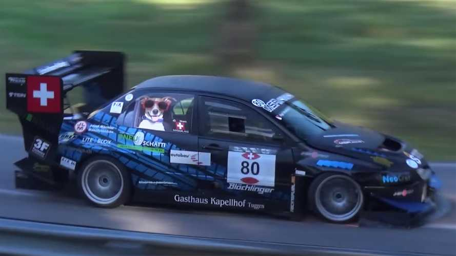 Mitsubishi Lancer Evo Racer Has Giant Wing, Spits Fire