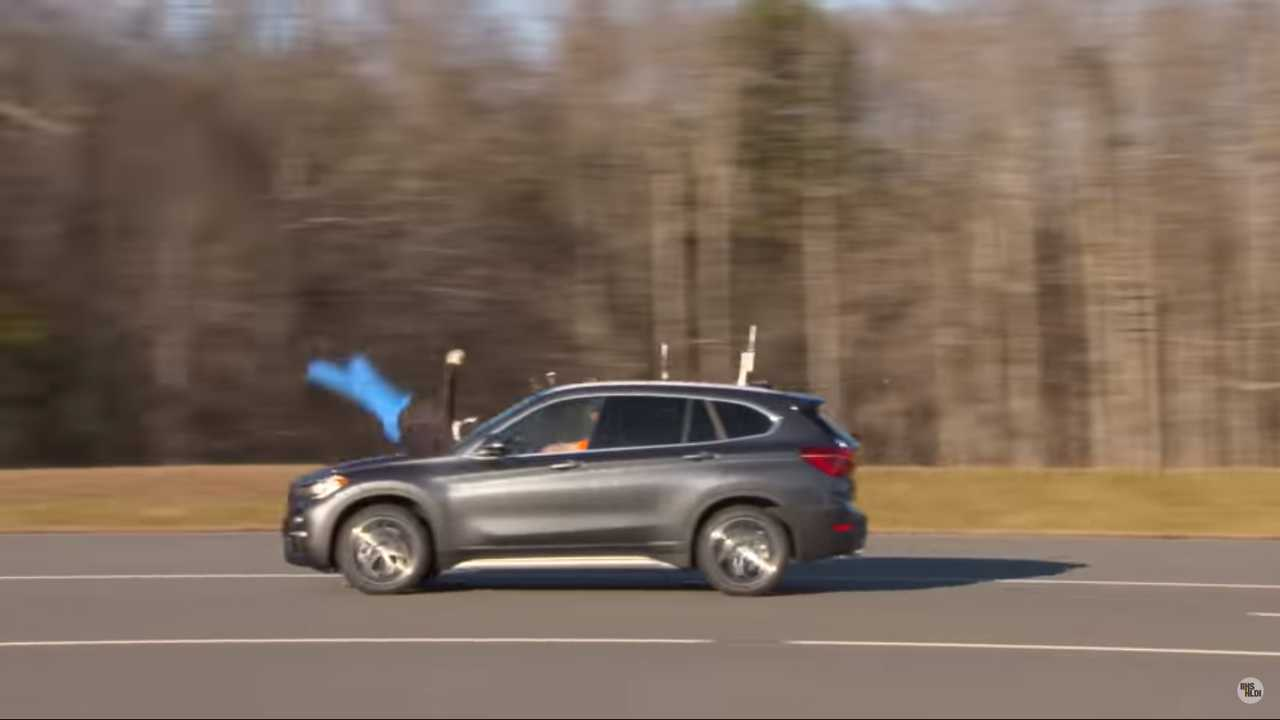 BMW X1 IIHS Pedestrian Crash Test