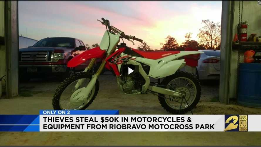 Thieves Steal Motorcycles From Houston Motocross Track. Twice.